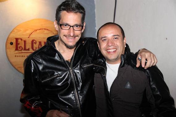 Diego Maroto y Ulises Guzmán en el homenaje a Juan López Moctezuma.