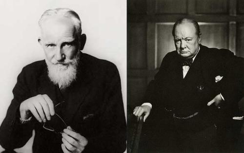 Bernard Shaw Vs. Winston Churchill.