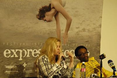 Sara Hoch y Spike Lee en Expresión en Corto, 2008, ahora GIFF. Foto: Mariana Mercado.