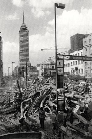 Sismo de 1985 en la ciudad de México.