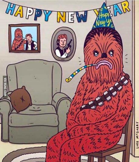 Chubaca solo, sin Han Solo