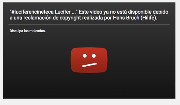 Video que acompañaba el post del director de Lucifer.