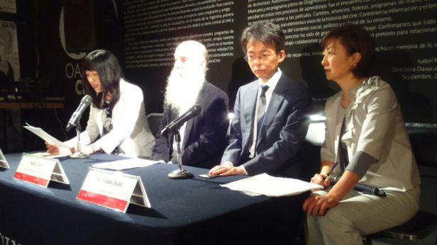 Conferencia de prensa en Cineteca