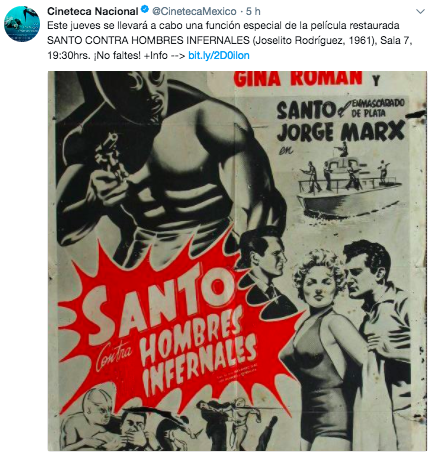 Twitter Cineteca Santo