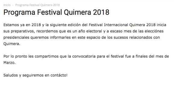 Quimera 2018